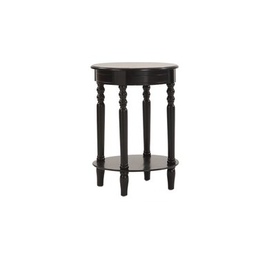 Gages Chairside Table Color: Black