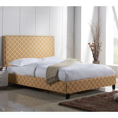 Lura Upholstered Platform Bed Size: California King, Upholstery: Mustard