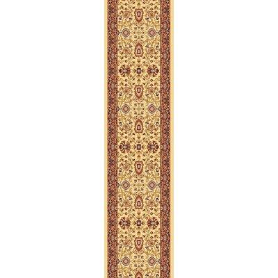 Mishawaka Cream/Red Area Rug Rug Size: Runner 2 x 77