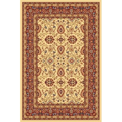 Mishawaka Cream/Red Area Rug Rug Size: Rectangle 53 x 77