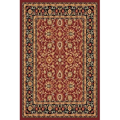 Mishawaka Red/Black Area Rug Rug Size: 2 x 36