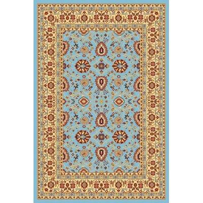 Mishawaka Blue/Cream Area Rug Rug Size: 2' x 3'6