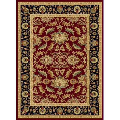 Mishawaka Black/Red Area Rug Rug Size: 53 x 77