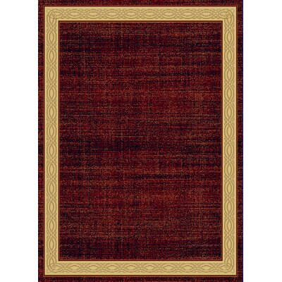 Mishawaka Red Area Rug Rug Size: Rectangle 53 x 77