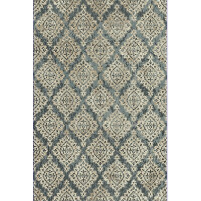 Morocco Blue/Ivory Area Rug Rug Size: Rectangle 92 x 1210