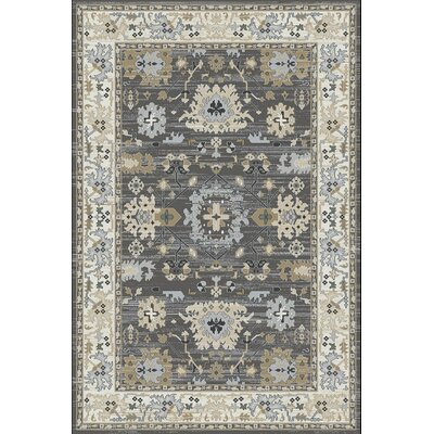 Mishawaka Gray/Beige Area Rug Rug Size: Rectangle 710 x 1010