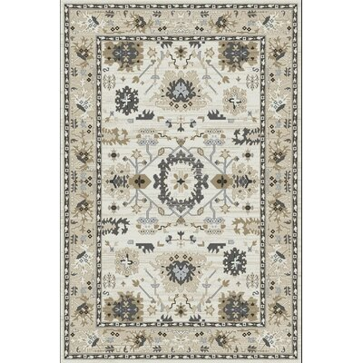 Mishawaka Beige Area Rug Rug Size: Rectangle 53 x 77