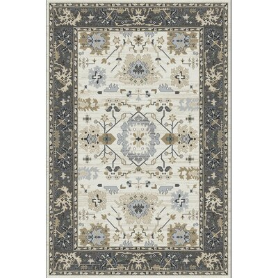 Mishawaka Beige/Gray Area Rug Rug Size: Rectangle 33 x 53