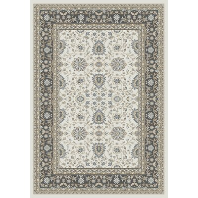 Mishawaka Beige/Gray Area Rug Rug Size: Rectangle 53 x 77