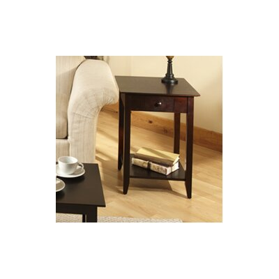 Greenspan End Table Color: Espresso