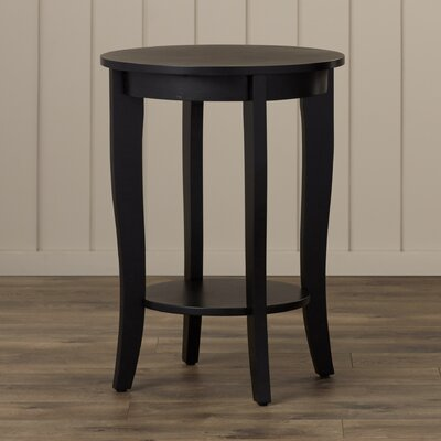 Lucile Round End Table Color: Black