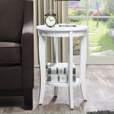 Lucile Round End Table Color: White