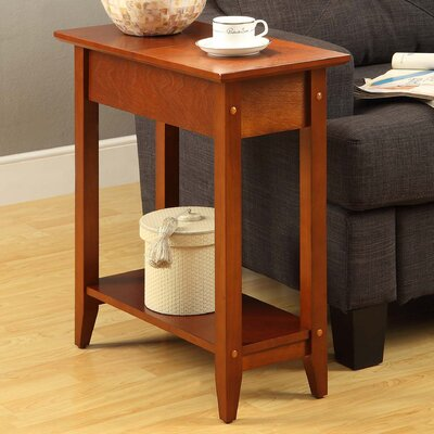 Lucile Flip Top End Table Color: Cherry