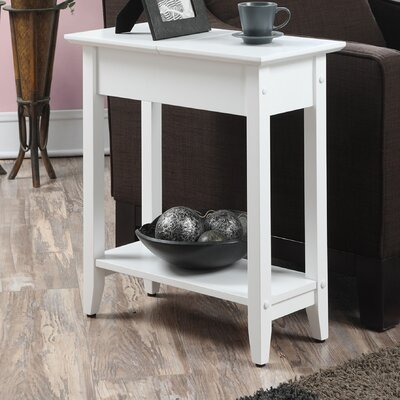Lucile Flip Top End Table Color: White