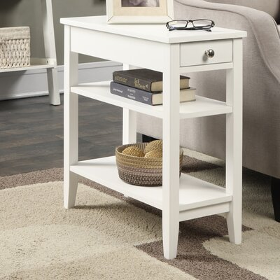 Williams End Table Color: White