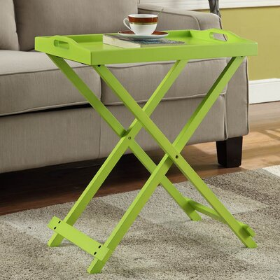 Schererville Folding Tray Table Finish: Green