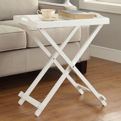 Schererville Folding Tray Table Finish: White