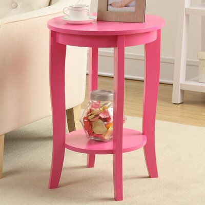 Lucile Round End Table Color: Pink
