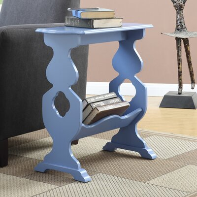 Williams Willow End Table Finish: Blue