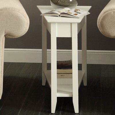 Randel Wedge End Table Color: White