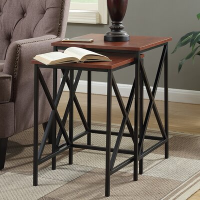 Monticello 2 Piece Nesting Tables Finish: Cherry