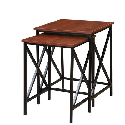 Abbottsmoor 2 Piece Nesting Tables Color: Cherry