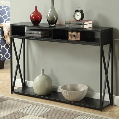 Abbottsmoor Rectangle Console Table Finish: Black
