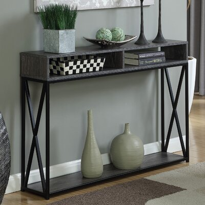 Abbottsmoor Rectangle Console Table Finish: Weathered Gray