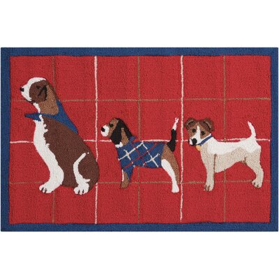 Hillyard Hand-Tufted Red Area Rug