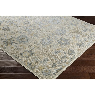Bonenfant Light Gray/Charcoal Area Rug Rug Size: 2' x 3'