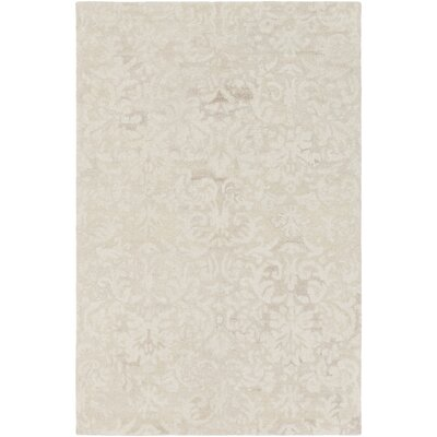 Barnhardt Hand-Tufted Cream/Tan Area Rug Rug Size: 2 x 3