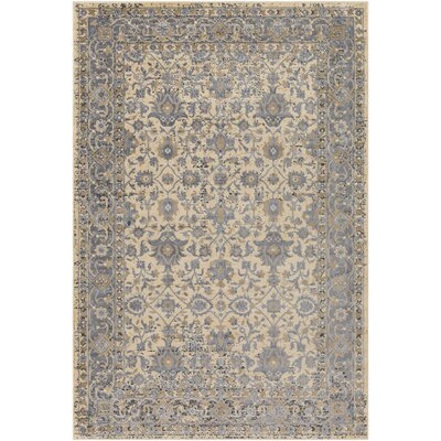 Baughn Light Gray/Butter Area Rug Rug Size: Rectangle 8 x 10