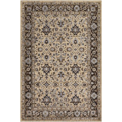 Baughn Butter/Tan Area Rug Rug Size: Rectangle 2 x 3