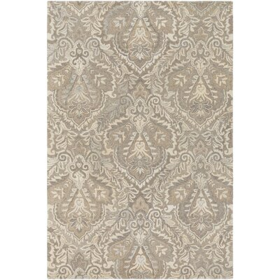 Barnhardt Hand-Tufted Cream/Taupe Area Rug Rug Size: Rectangle 5 x 76
