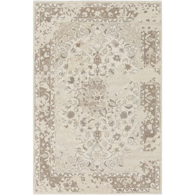 Barnhardt Hand-Tufted Cream/Tan Area Rug Rug Size: Rectangle 5 x 76