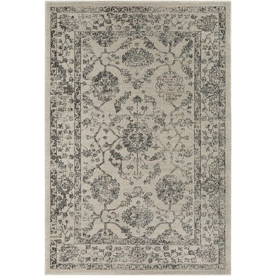 Bayou Medium Gray/Black Area Rug Rug Size: Rectangle 53 x 76