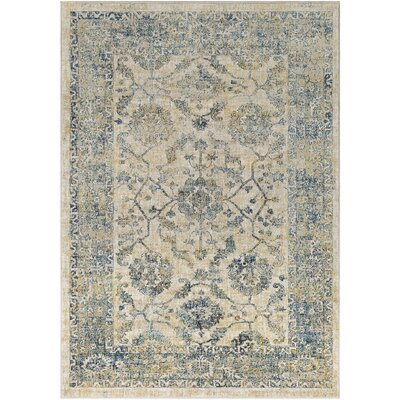 Bayou Saffron/Navy Area Rug Rug Size: Rectangle 2 x 3