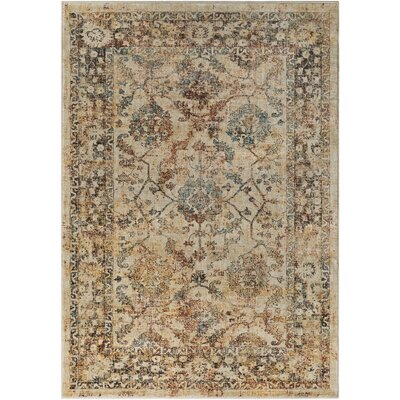 Mercury Burnt Orange/Teal Area Rug Rug Size: 5'3 x 7'6