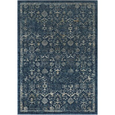 Bayou Navy/Teal Area Rug Rug Size: Rectangle 710 x 103