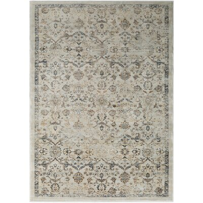 Bayou Silver Gray/Khaki Area Rug Rug Size: Rectangle 53 x 76