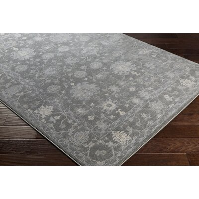 Merrimack Medium Gray/Cream Area Rug Rug Size: 2 x 3