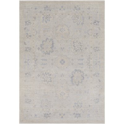 Merrimack Medium Gray/Cream Area Rug Rug Size: 5' x 7'6