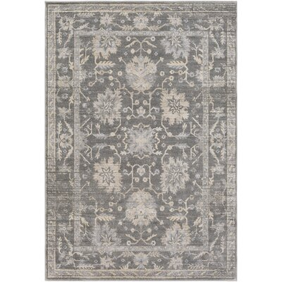 Merrimack Medium Gray/Taupe Area Rug Rug Size: 2' x 3'