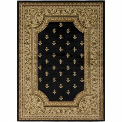 Marvin Black/Khaki Area Rug Rug Size: Rectangle 93 x 126