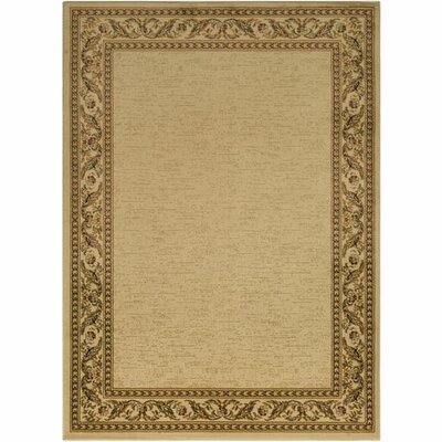 Marvin Khaki/Burnt Orange Area Rug Rug Size: 93 x 126