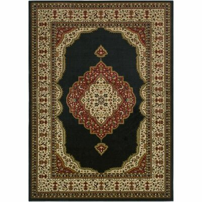 Marvin Black/Khaki Area Rug Rug Size: Rectangle 53 x 73
