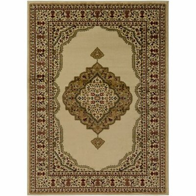 Marvin Khaki/Dark Red Area Rug Rug Size: Rectangle 93 x 126