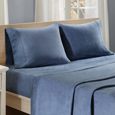 Centreville Sheet Set Size: Queen, Color: Blue