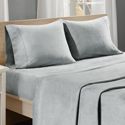 Centreville Sheet Set Size: King, Color: Gray