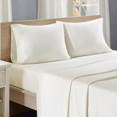 Centreville Sheet Set Size: King, Color: Ivory